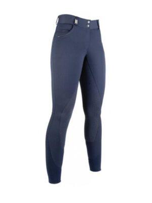 HKM Reithose Easy Fit Silikon-Vollbesatz blau