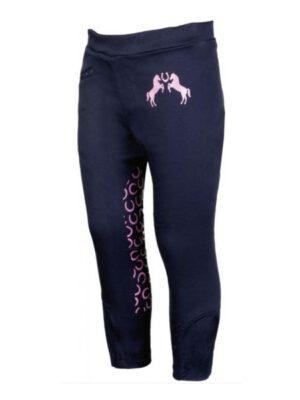 HKM Reithose Pink Pony blau