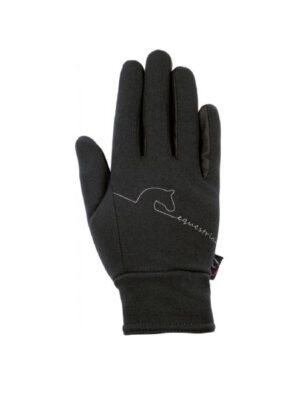 HKM Reithandschuhe Equestrian Softshell schwarz